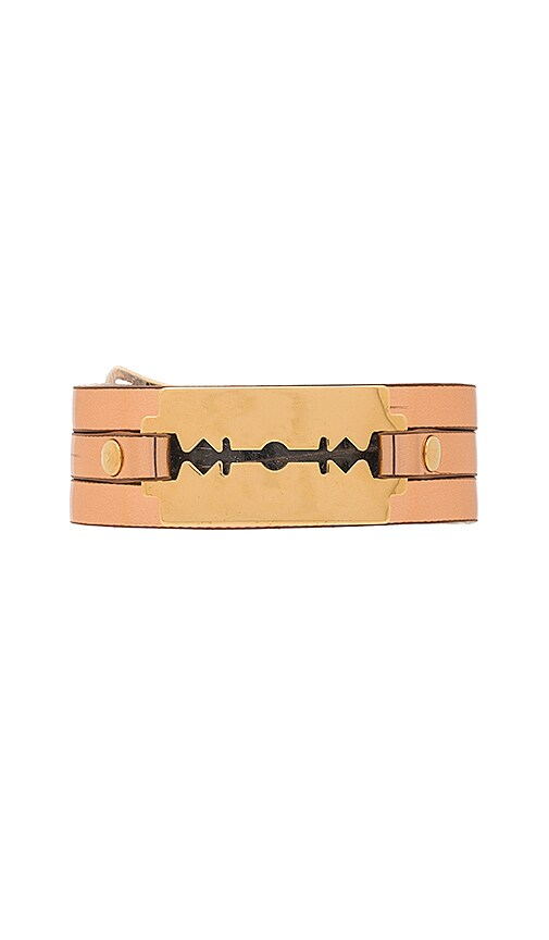 McQ Alexander McQueen Razor Triple Wrap Bracelet in Metallic Gold