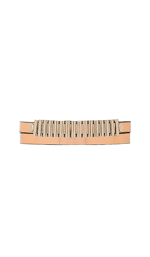 McQ Alexander McQueen Mini Bullets Wrap Bracelet in Metallic Gold