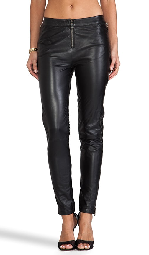 Zip Leather Pant