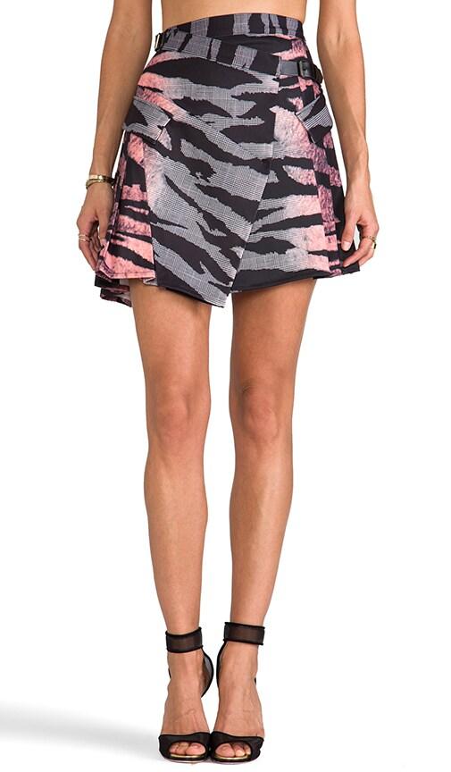 Pleat Drape Mini Skirt