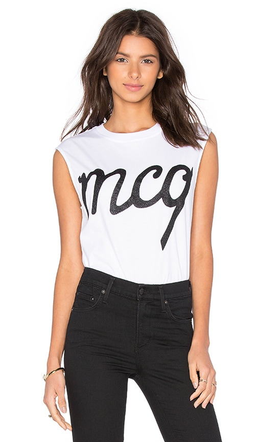 McQ Alexander McQueen Boyfriend Tank Top in Optic White
