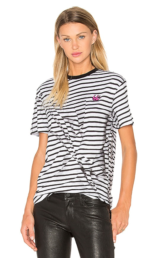 McQ Alexander McQueen Classic T-Shirt in Black & White