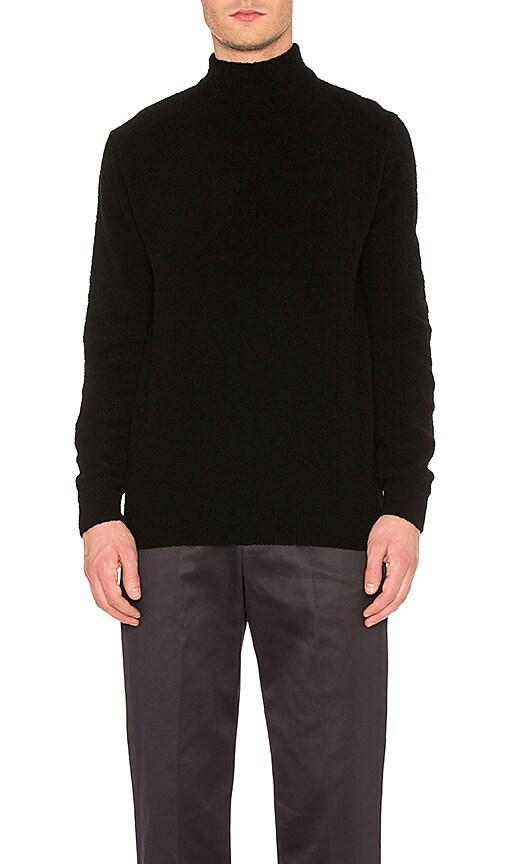 Maiden Noir Mockneck Knit Sweater in Black