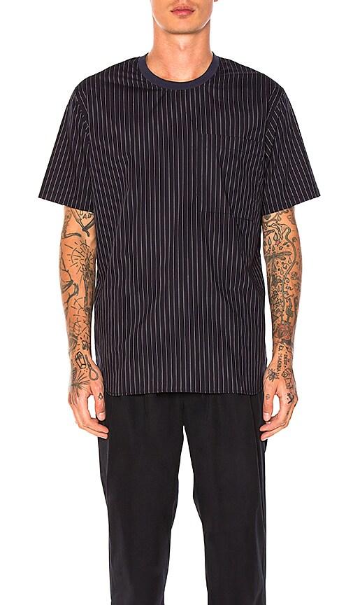 Maiden Noir Stripe Crew Shirt in Navy