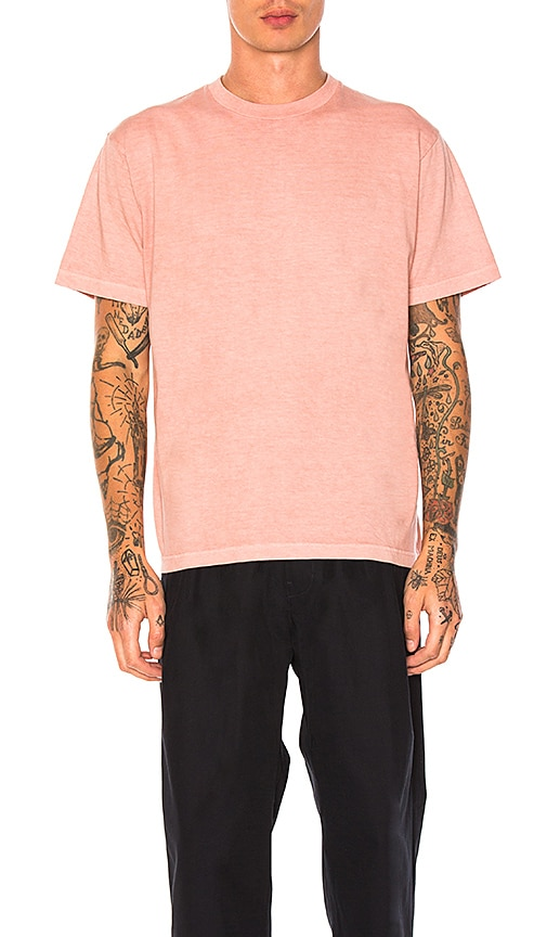 Maiden Noir Natural Dyed Block Tee in Coral