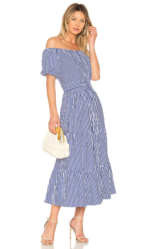 MDS Stripes Lexi Dress in Blue