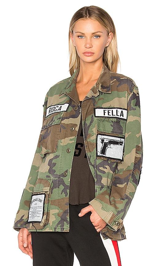 Madeworn x Roc96 Roca Fella Track List Jacket in Olive