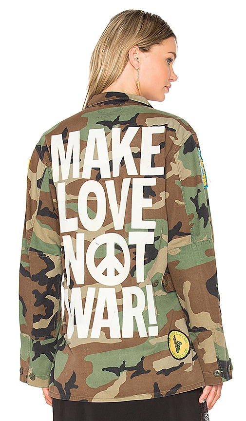 Madeworn Make Love Not War Jacket in Army