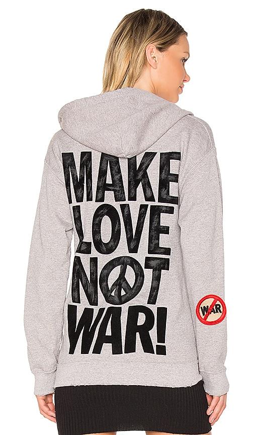 Madeworn Make Love Not War Hoodie in Gray
