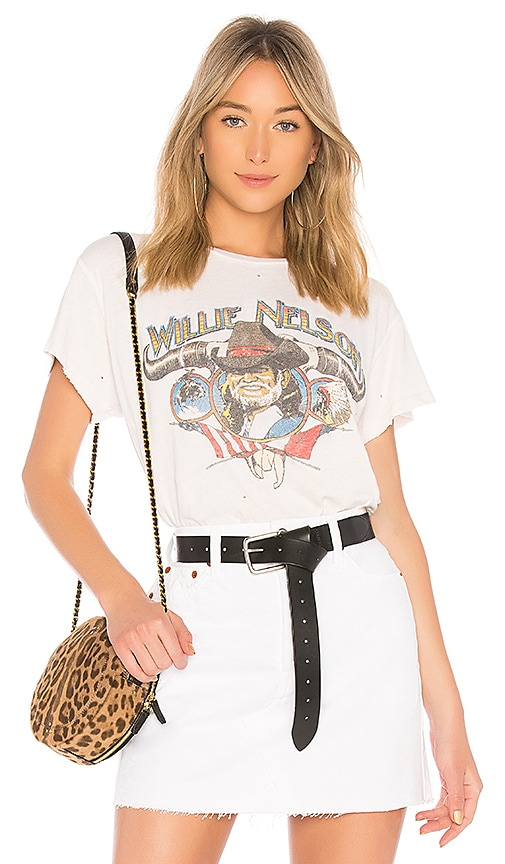 Madeworn Willie Nelson Tee in Ivory