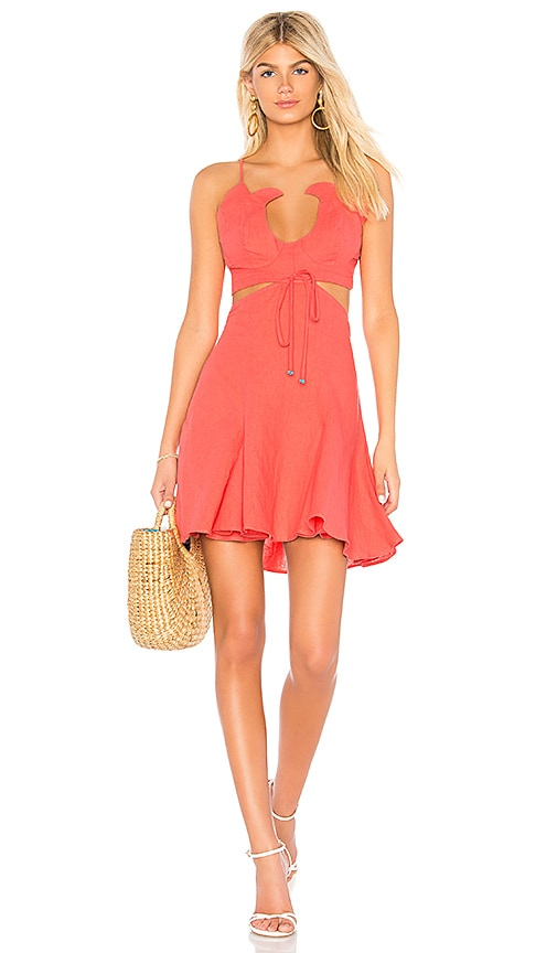 A Mere Co. Flora Dress in Coral