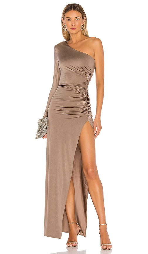 Michael Costello X Revolve Gilly Maxi Dress In Taupe Revolve Find long maxi dresses perfect for going out, weddings, and parties. x revolve gilly maxi dress