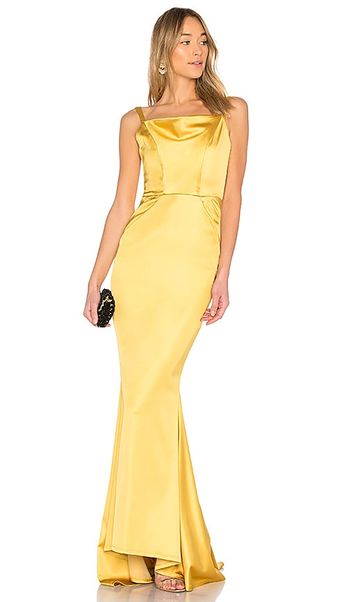 Michael Costello x REVOLVE Jesse Gown in Yellow
