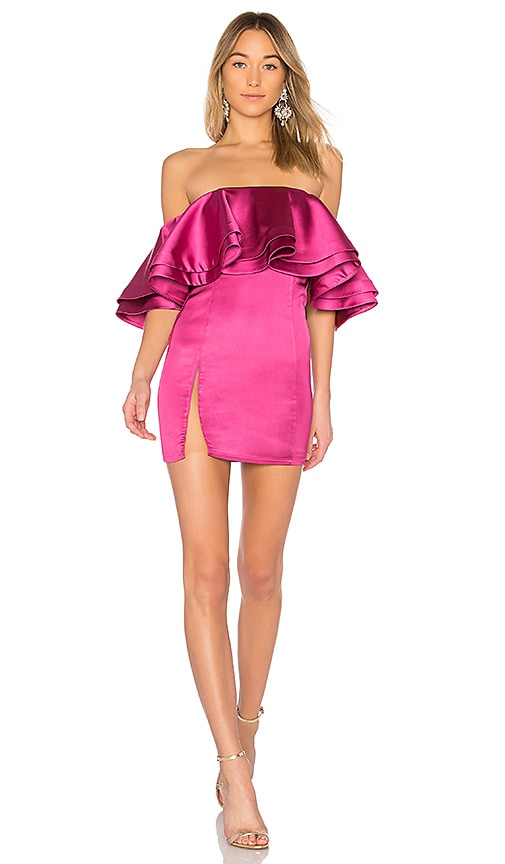 Michael Costello x REVOLVE Jaden Mini Dress in Pink