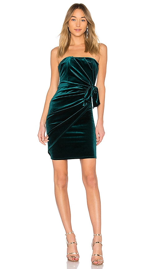 Michael Costello x REVOLVE Jem Mini Dress in Green