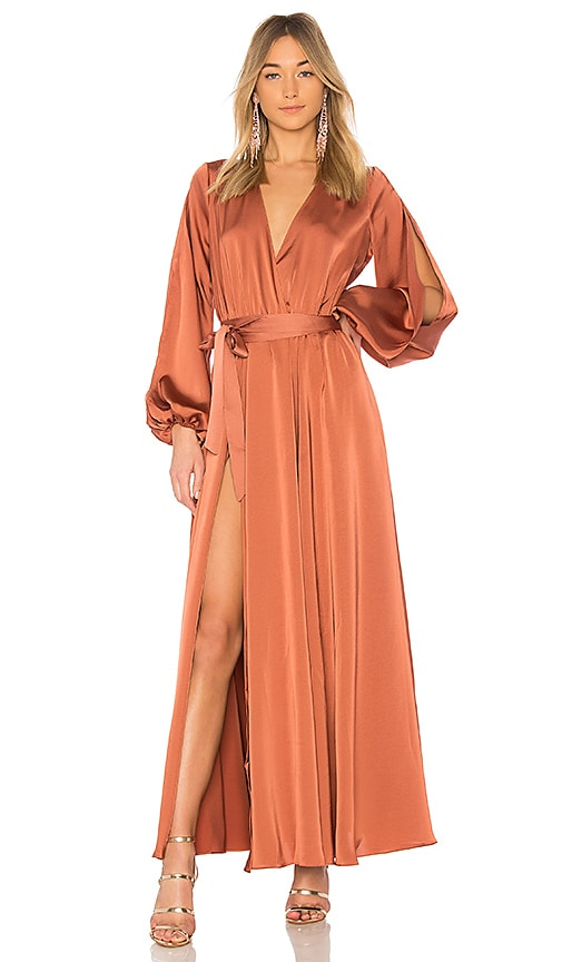 Michael Costello X Revolve Eric Gown In Bronze Revolve Shop online for shoes, clothing, jewelry, dresses, makeup and more from top brands. x revolve eric gown
