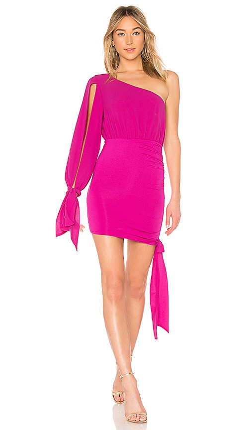 Michael Costello x REVOLVE Maybelline Mini Dress in Pink