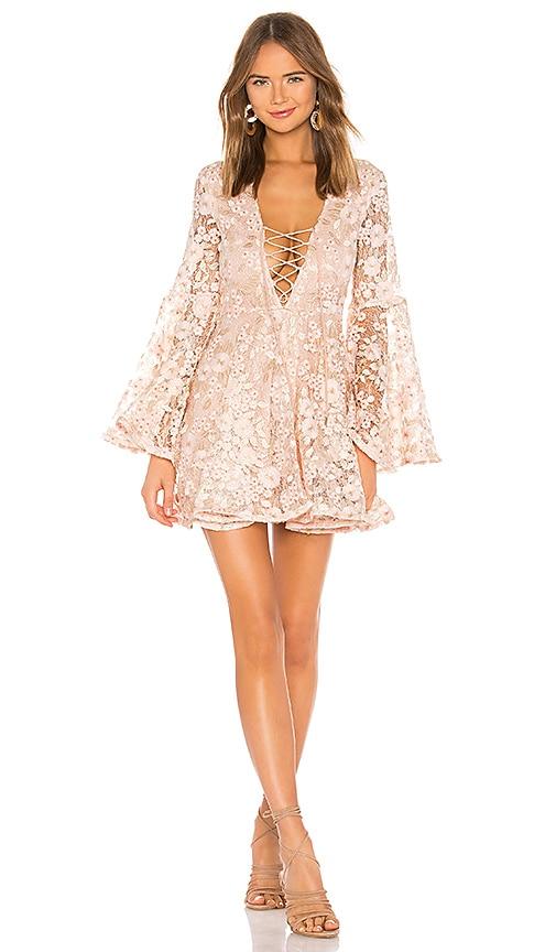 7d4191b7b50c Michael Costello x REVOLVE Daybreak Mini Dress in Light Pink Floral ...