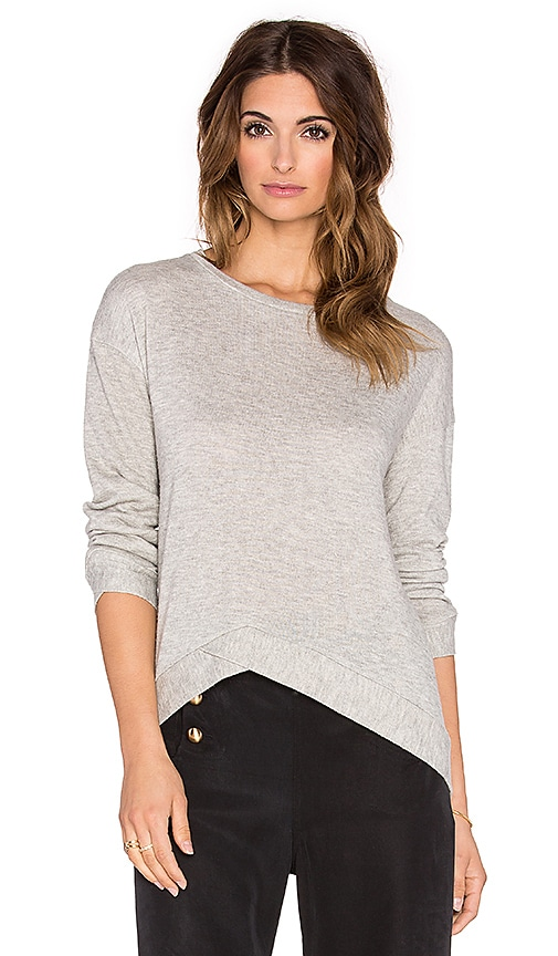 MERRITT CHARLES Rex Sweater in Light Grey