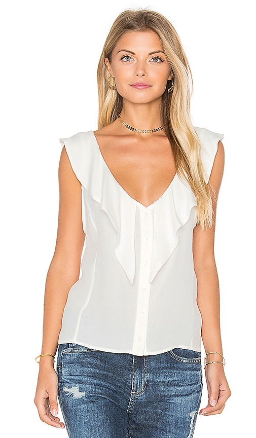 MERRITT CHARLES Sharon Top in White