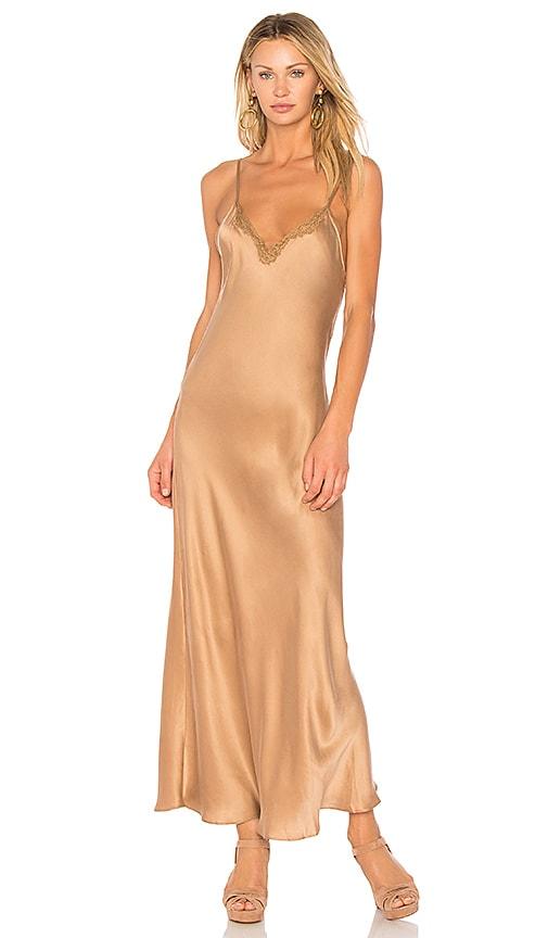 Mes Demoiselles Skin Dress in Metallic Bronze