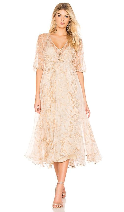 Mes Demoiselles Temple Maxi Dress in Cream