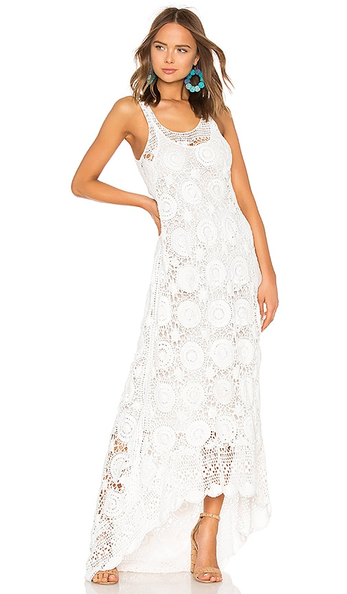 cb5970ab799 Mes Demoiselles Secret Crochet Maxi Dress in Ivory