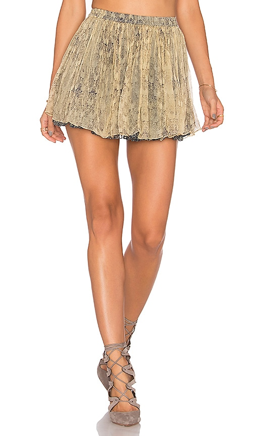 Mes Demoiselles Flory Mini Skirt in Beige