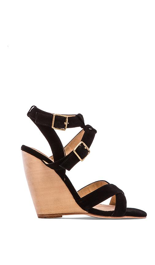 Kareen Cross Ankle Strap Wedge