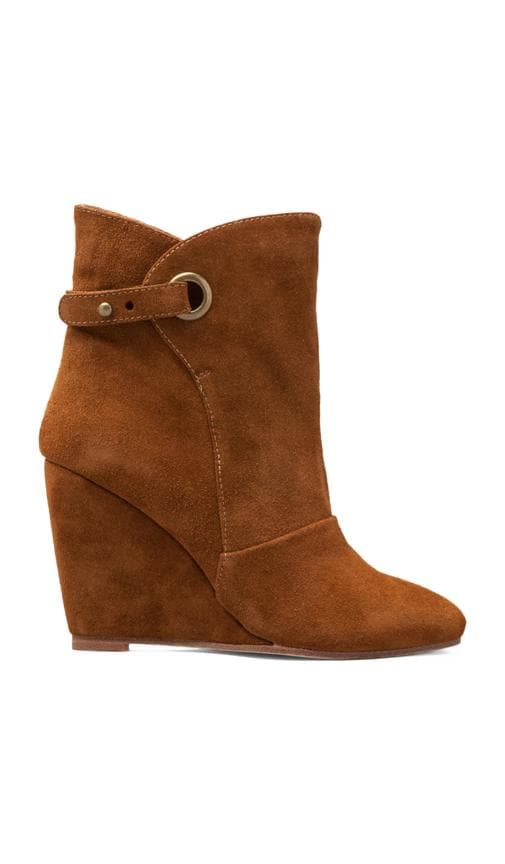 Susan Suede Wedge Strap Boot