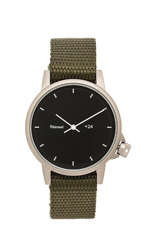 Miansai M24 II Black Nylon Watch in Army
