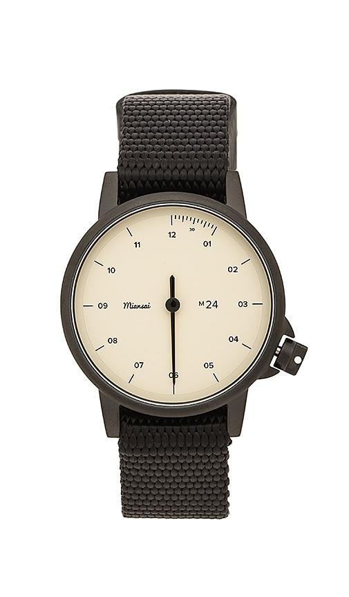 Miansai M24 Noir/Bone On Nylon Watch in Black