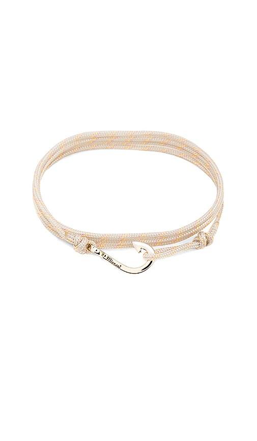 Miansai x REVOLVE Mini Hook On Thin Rope Bracelet in Metallic Silver