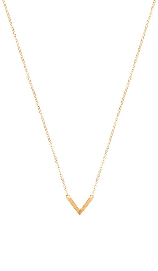 Miansai Mini Angular Necklace in Metallic Gold