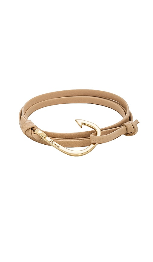 Miansai x REVOLVE Leather Hook Bracelet in Metallic Gold