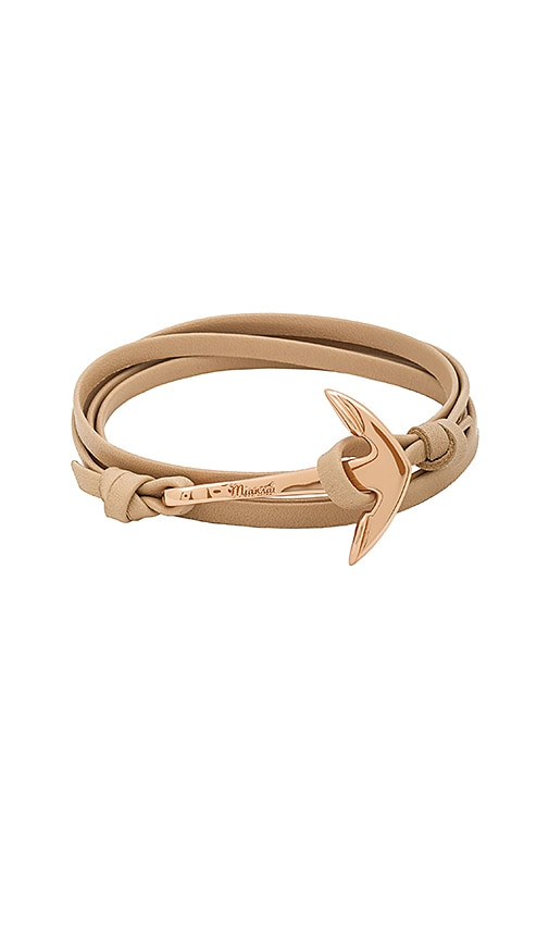 Miansai x REVOLVE Leather Anchor Bracelet in Metallic Copper