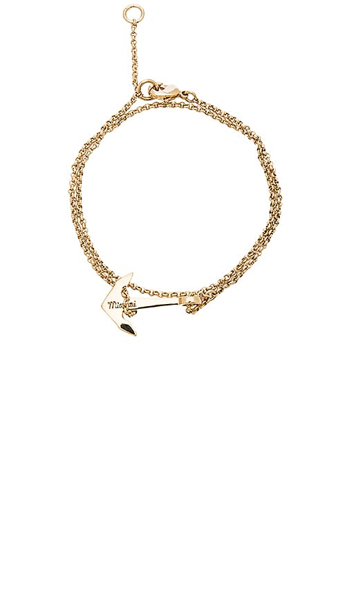 Miansai Mini Anchor Chain Bracelet in Metallic Gold