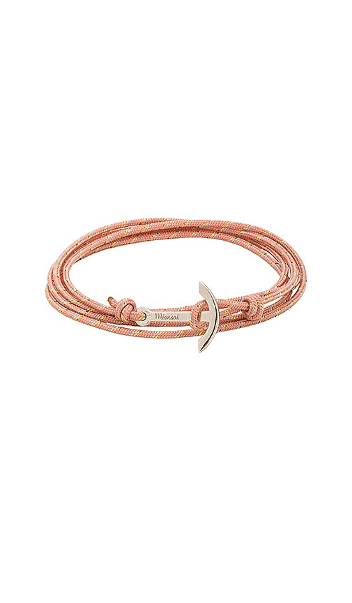 Miansai Mini Modern Anchor Bracelet in Pink