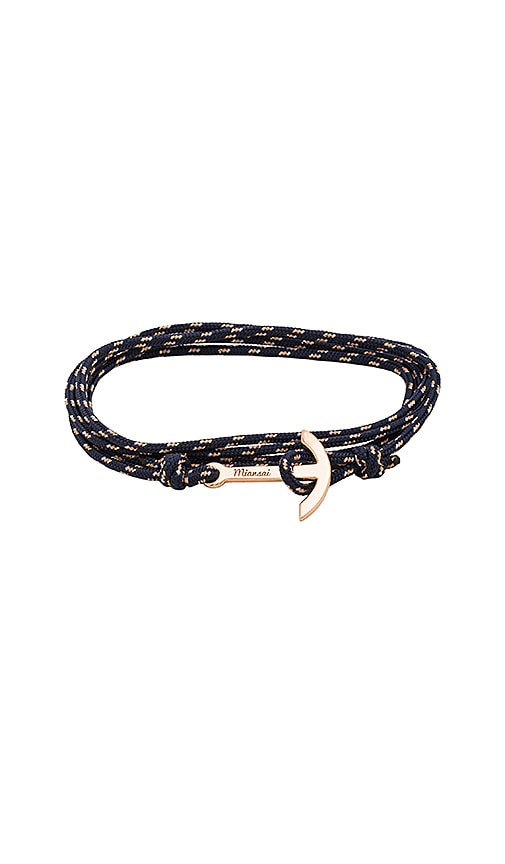 Miansai Mini Modern Anchor Bracelet in Navy