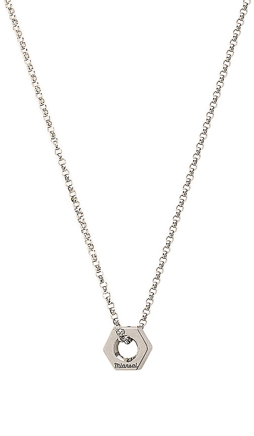 Miansai Bare Necklace in Metallic Silver