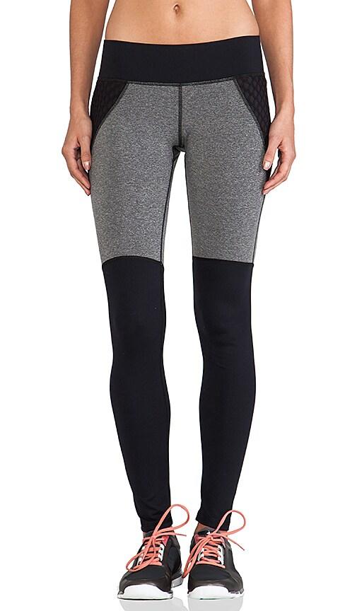 MICHI Shadow Legging in Grey Heather & Black Mesh
