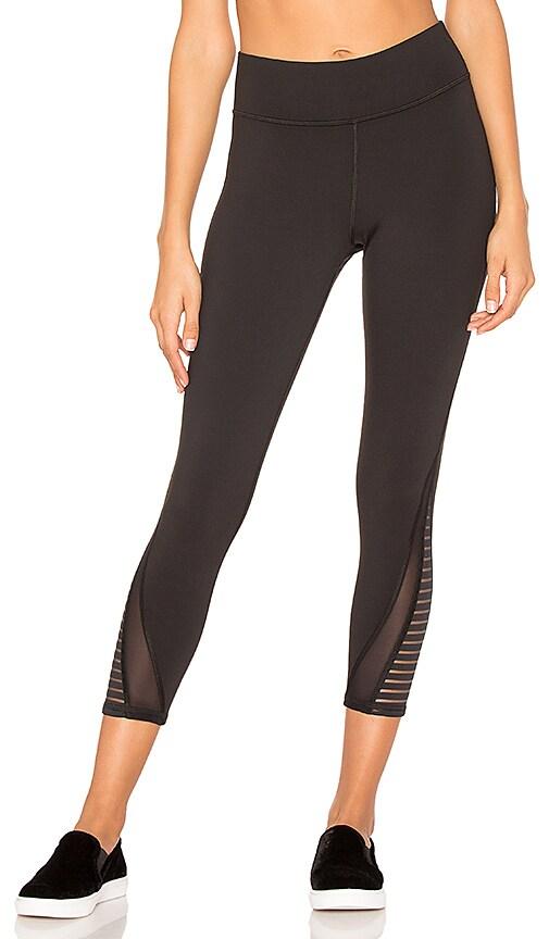 MICHI Apex Crop Legging in Black