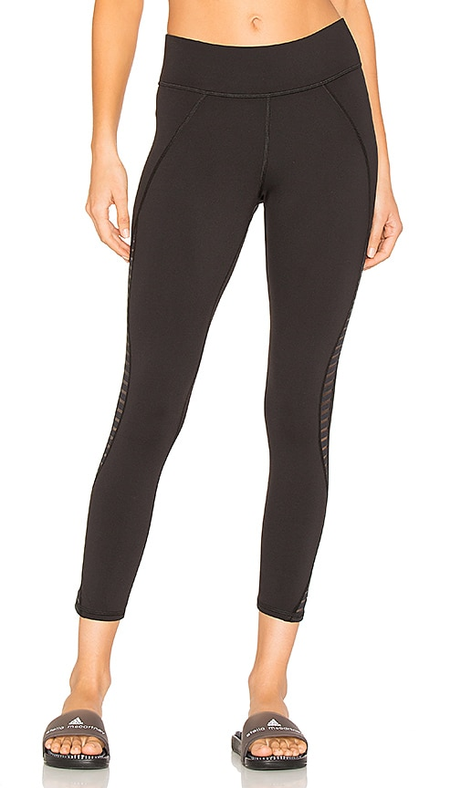 MICHI Medusa Stripe Crop Legging in Black