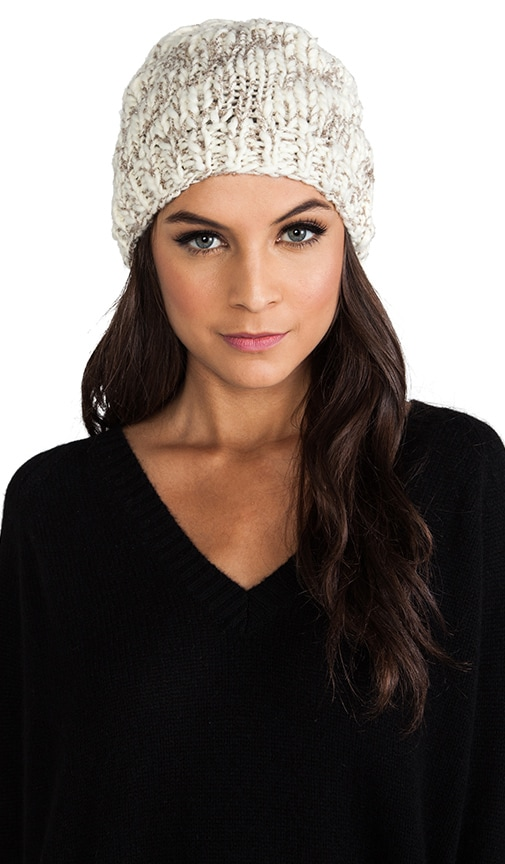 Hint of Sparkle Hand Knit Slouch Hat