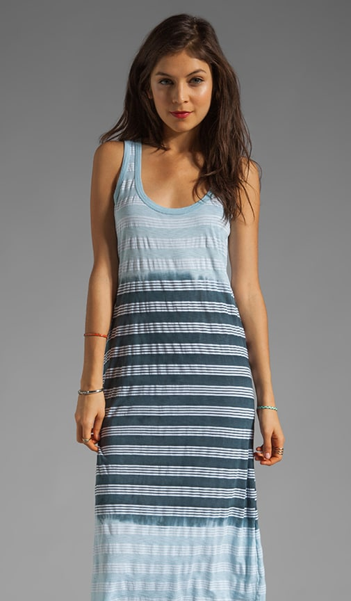 Horizon Wash Sleeveless Scoop Neck Midi Dress