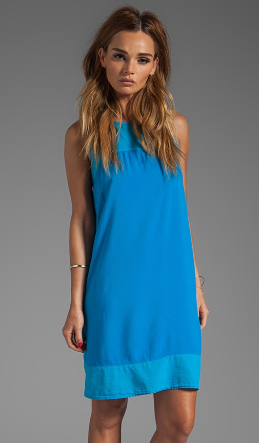 St. Barths Twill Simona Sleeveless Crew Neck A Line Dress