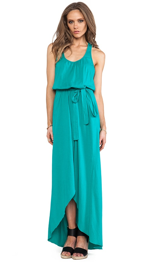 Sleeveless Scoop Neck Racerback Hi- Low Maxi