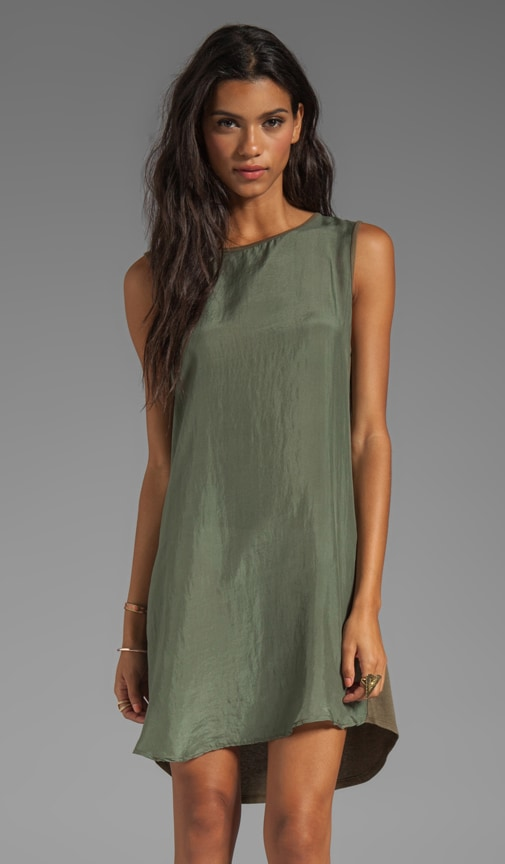 Sandwashed Silk Sleeveless Muscle Tank Dress