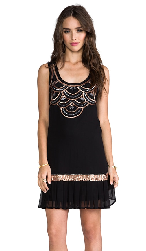 Drop Waist Embellished Dress