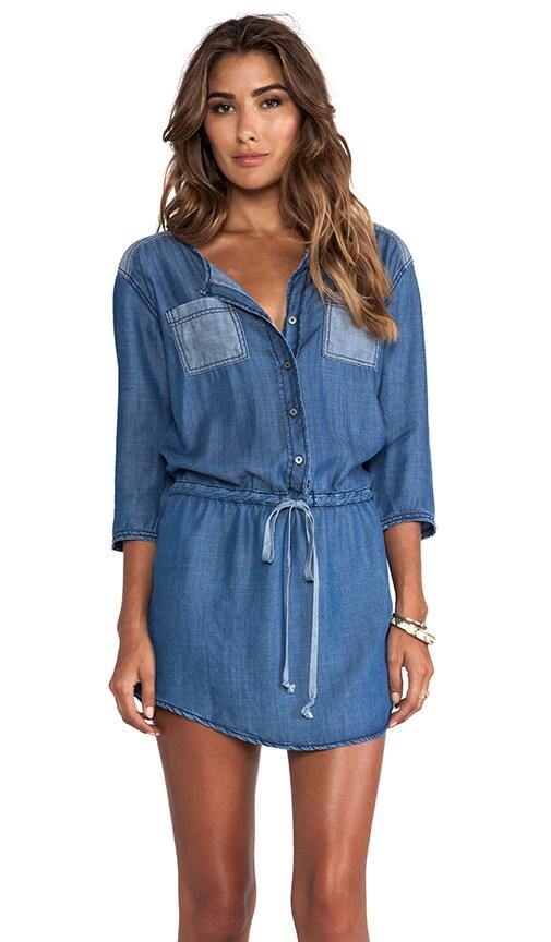 3/4 Sleeve Button Down Shirt Dress